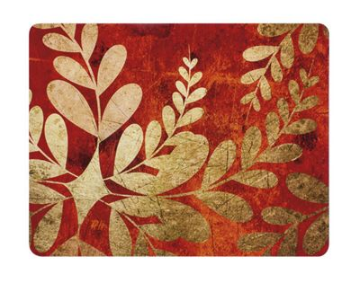 Ladelle Golden Foliage Hardboard Set of 4 Placemats