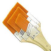 Royal Large Area Brush Set - Angular Gold Taklon Medium 3 Pack
