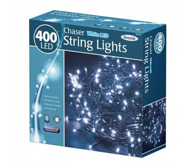 400 LED White Chaser Indoor Outdoor Garden Christmas Party String Lights