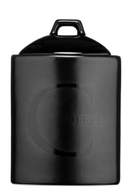 Premier Housewares Black Ceramic Text Coffee Storage Jar