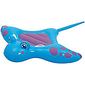 Bestway Children's Inflatable Manta Ray Pool Ride On Toy (Blue & Pink)