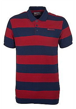 Mountain Warehouse Harrier Mens Striped Polo Shirt - Red