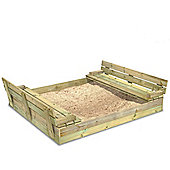 Wickey Flippey Wooden Lidded Sandpit 150x165cm