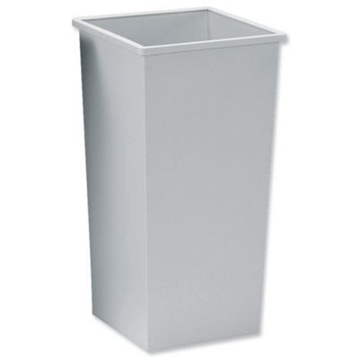5 Star Waste Bin Square Metal Scratch-resistant W325xD325xH630mm 48 Litres Grey