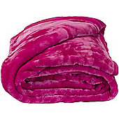 Faux Fur Pink Mink Throw Soft Warm Blanket 150 x 200cm