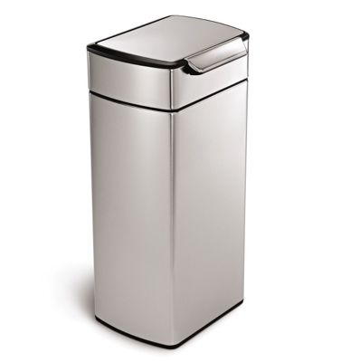 Simplehuman Rectangular Stainless Steel Touch Bar Bin 30L CW2015