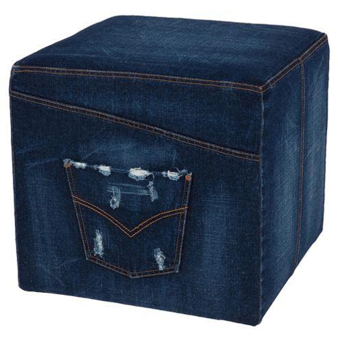 Denim Fabric Cube