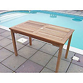 Rectangular 120cm Teak Garden Dining Table