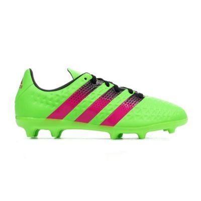 big sale 976c5 c6a5e adidas Ace 16.3 FG Firm Ground Kids Football Soccer Boot Green - UK 12