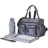 OiOi Carry All Nappy Change Bag - Grey Microcheck Carryall (6673)