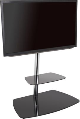 AVF Iseo Cantilever TV Stand for up to 70 inch TVs - Black and Silver