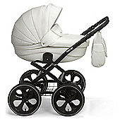 Mee-Go Milano Classic Chassis Pushchair-Lily White (Black Chassis)