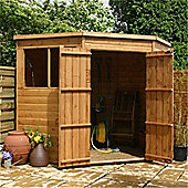 7 x 7 Sutton Tongue And Groove Corner Shed Garden Wooden Shed 7ft x 7ft (2.14m x 2.14m)