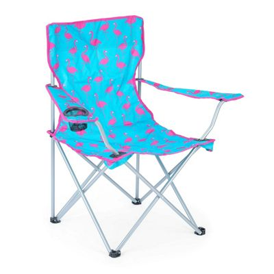 Trail Flamingo Folding Festival Chair - Blue