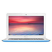 "ASUS Chromebook 13.3"" Laptop Intel Celeron N3060 2GB 32GB Chrome OS - Blue"