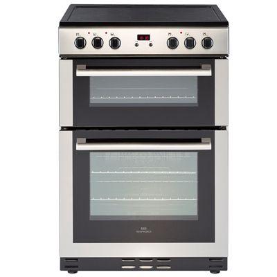 New World 60EDOMCSS 600mm Double Electric Cooker 4-Zone Ceramic Hob S/S