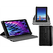 Navitech Black Faux Leather Case Cover With 360 Rotational Stand For The Hipstreet Phantom 10.1 inch tablet