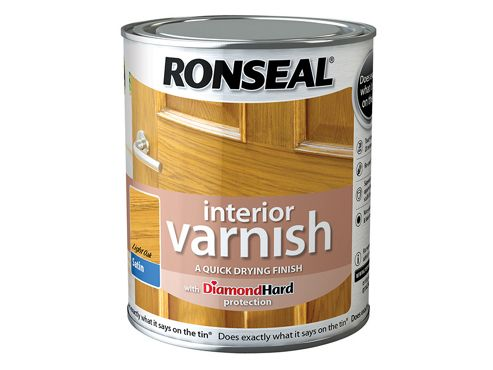 Ronseal Interior Varnish Quick Dry Satin Light Oak 750ml