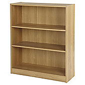 Vernon Wide 3 Shelf Bookcase - Oak