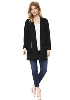 Wallis Petite Long Line Jacket Black L