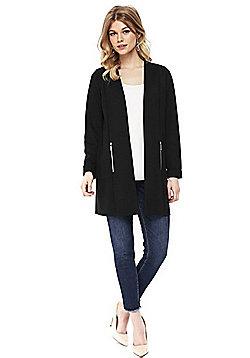 Wallis Petite Long Line Jacket - Black