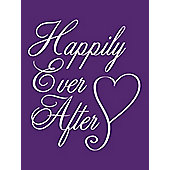 Happily Ever After Cushion Purple 40x40cm,