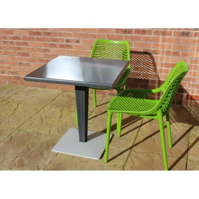 Brackenstyle Madrid Pedestal Table and 4 Tropical Green Orion Chairs - Seats 4