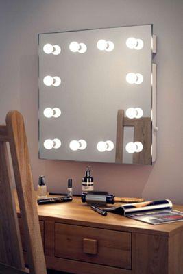 Diamond X Wallmount Hollywood Audio Mirror with Daylight LED k411CWaud