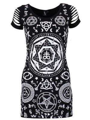 Banned Pentagram Women's Top, Black.