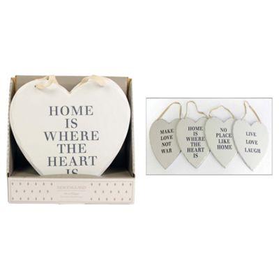 Vintage Heart word plaque