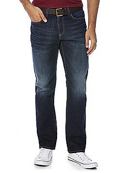 F&F Straight Leg Jeans with Belt - Indigo