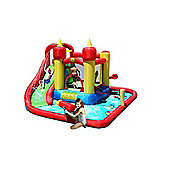 Happy Hop Inflatable Bouncy Castle and Water Slide - Jump and Splash Funland