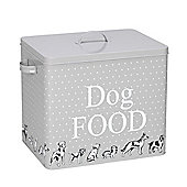 Polka Dogs Print Treat Tin And Scoop L