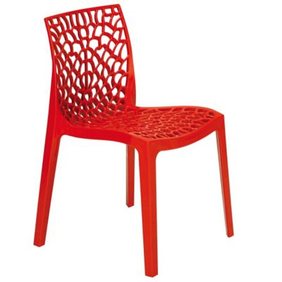 Brackenstyle Neptune Polypropylene Chair - Rosso Red