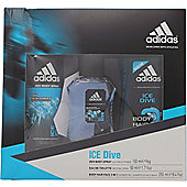 Adidas Ice Dive Gift Set 50ml EDT + 250ml Shower Gel + 150ml Deodorant Body Spray For Men