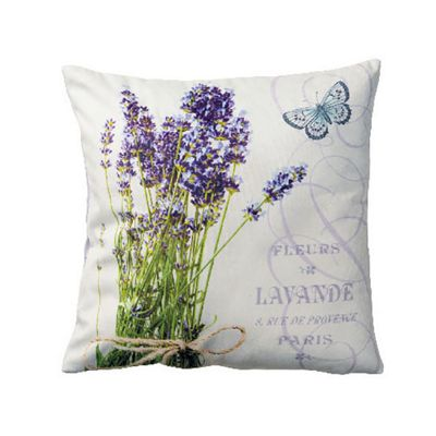 Ambiente Bunch of Lavender Velvet Cushion 34x34cm