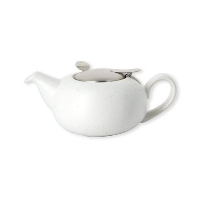 London Pottery Pebble Filter Teapot 0.5 Litres 2 Cup in Speckled White