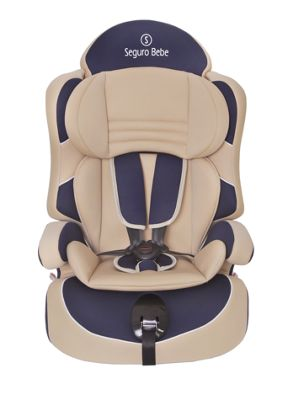 Seguro Bebe Lima Group 1 2 3 Child Car Seat - Beige on Navy