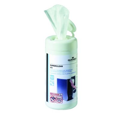 100 Moist Hard Surface Cleaning Wipes in Dispenser Tub