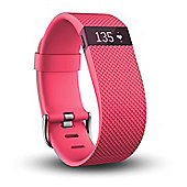 Fitbit Charge HR Pink Large - Activity Tracker with Heart Rate Monitor