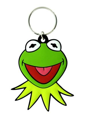 The Muppets Kermit Face Keyring