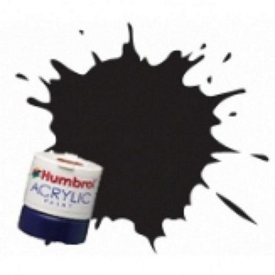 Humbrol Acrylic - 14ml - Gloss - No21 - Black