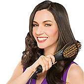 JML Simply Straight Black & Gold Heat Hair Straightening Auto Shut Off Brush