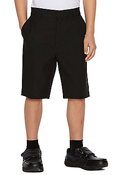 F&F School 2 Pack of Boys Slim Leg Shorts - Black