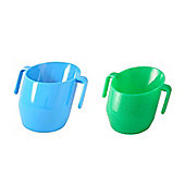 Doidy Cup - Blue And Green Sparkle Doidy Cup 2 Item Bundle
