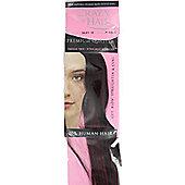 "16"" Premium DIY Weft Remy 100% Real Natural Clip / Glue In Human Hair Extensions-#1B/BUG Natural Black BUG"