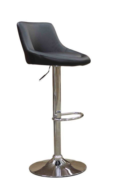 Ionion Brown Faux Leather Bar Stool