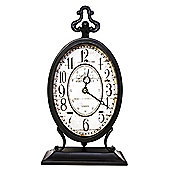 Tall Antique Victorian Style Standing Clock - Black