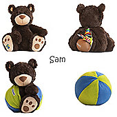Buddy Ball Plush Brown Coloured Bear Sam