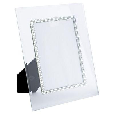 Buy Tesco Glass Diamante Photo Frame 5 x 7\